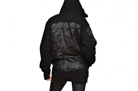 DOUBLE KILLER HOODIE BLACK
