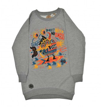 Gone Surfing Sweatshirt Grey
