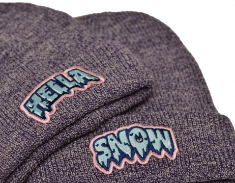 BEANIE HEATHER PURPLE HELLA