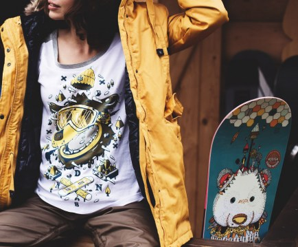 Shirt Ice Bear Yellow 3/4 Raglan Tee