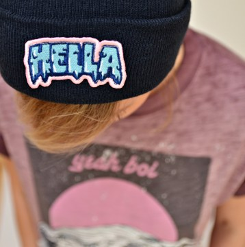 BEANIE HELLA PATCH NAVY