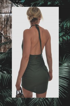BASIC DRESS DARK OLIVE