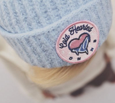 SOFT BLUE PLUSH BEANIE