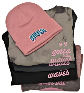 BEANIE HELLA PATCH DUSKY PINK