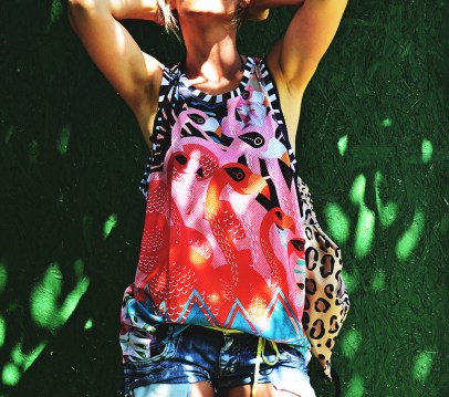 MESH TANK TOP FLAMINGO