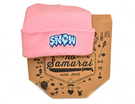 Beanie Snow Patch Pink